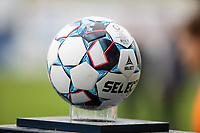 Game ball pictured during a female soccer game between Eendracht Aalst and Sporting Charleroi on the fifth matchday of the 2021 - 2022 season of Belgian Scooore Womens Super League , Saturday 2 October 2021  in Aalst , Belgium . PHOTO SPORTPIX    KRISTOF DE MOOR
