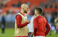 TORONTO, ON - OCTOBER 15: Michael Bradley #4 and Christian Pulisic #10 of the United States chat during a game between Canada and USMNT at BMO Field on October 15, 2019 in Toronto, Canada.