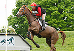 LEXINGTON, KY - APRIL 30: #84 Copper Beach and Bruce (Buck) Davidson Jr. compete in the Cross Country Test for the Rolex Kentucky 3-Day Event at the Kentucky Horse Park.  April 30, 2016 in Lexington, Kentucky. (Photo by Candice Chavez/Eclipse Sportswire/Getty Images)