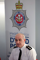 Pictured: Chief Superintendent Tony Brown. Friday 08 December 2017<br /> Re: Dyfed Powys Police press conference at Cardiff Bay Police Station over a house fire that killed a father and his children in Llangammarch Wells, mid Wales, UK. <br /> David Cuthbertson, 68, and the children aged between four and 11 are missing, presumed dead, following the blaze.<br /> Three other children aged 10, 12 and 13 escaped and were taken to hospital.<br /> Dyfed-Powys Police said they have been released and are being cared for by family.
