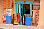 Rug shop on Old Santa Fe Trail downtown Santa Fe, New Mexico