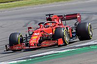 18th July 2021; Silverstone Circuit, Silverstone, Northamptonshire, England; Formula One British Grand Prix, Race Day; Early leader Scuderia Ferrari Mission Winnow driver Charles Leclerc in his Ferrari SF21 Ferrari 065/6