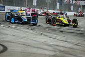 #18: Ed Jones, Dale Coyne Racing with Vasser Sullivan Honda and #48: Jimmie Johnson, Chip Ganassi Racing Honda