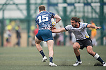Taikoo Place Scottish Exiles vs King's College at UQ during their Plate Semi-final match as part of the GFI HKFC Rugby Tens 2017 on 06 April 2017 in Hong Kong Football Club, Hong Kong, China. Photo by Juan Manuel Serrano / Power Sport Images