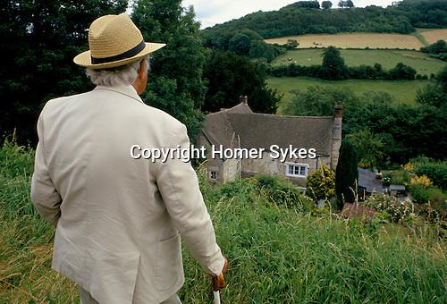 Laurie Lee author  Slad near Stroud Gloucestershire 1990s 1994