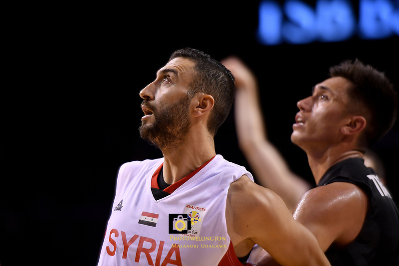 Syria's Sharif Al Osh in action during the FIBA World Cup Basketball Qualifier - NZ Tall Blacks v Syria at TSB Bank Arena, Wellington, New Zealand on Sunday 2 2018. <br /> Photo by Masanori Udagawa. <br /> www.photowellington.photoshelter.com