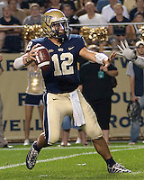 Pitt quarterback Tino Sunseri. The Miami Hurricanes defeated the Pittsburgh Panthers 31-3 at Heinz Field, Pittsburgh, Pennsylvania on September 23, 2010.