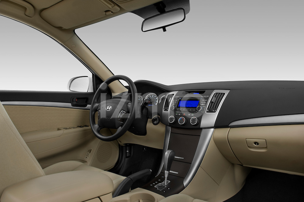 Passenger side low angle dashboard view of a 2010 Hyundai Sonata GLS