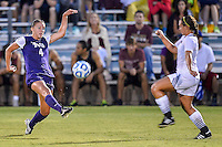 TCU defender Bobbi Clemmer (4) during NCAA soccer game, Friday, September 12, 2014 in San Marcos, Tex. TCU defeated Texas State 1-0. (Mo Khursheed/TFV Media via AP Images)