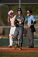 AJ Shepard (3) during the WWBA World Championship at Lee County Player Development Complex on October 9, 2020 in Fort Myers, Florida.  AJ Shepard, a resident of Manassas, Virginia who attends Patriot High School, is committed to Indiana.  (Mike Janes/Four Seam Images)