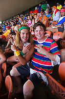Fans in the Wel Networks Stand. Day one of the 2020 HSBC World Sevens Series Hamilton at FMG Stadium in Hamilton, New Zealand on Saturday, 25 January 2020. Photo: Dave Lintott / lintottphoto.co.nz