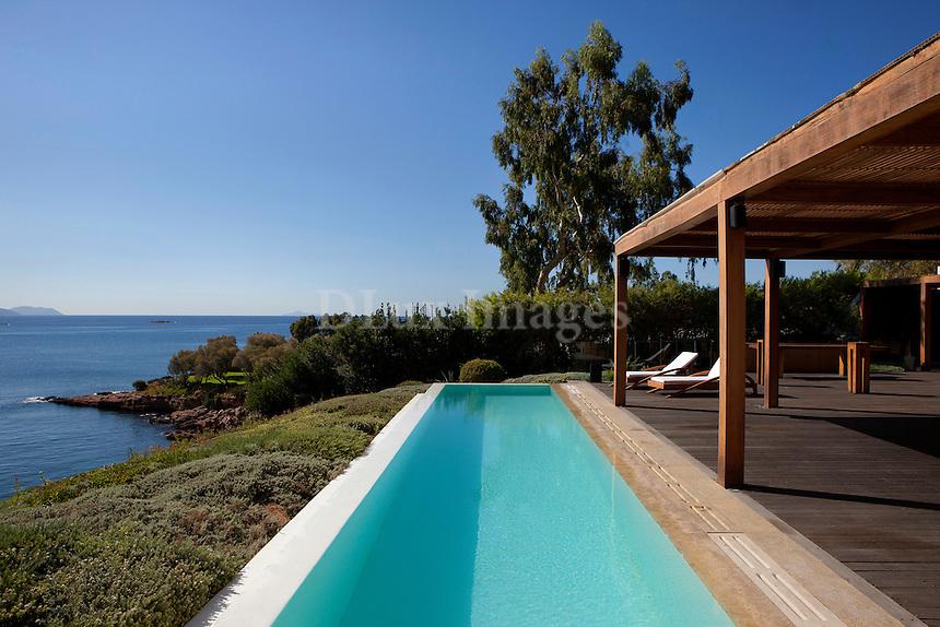 luxury minimal pool area