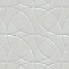 Zazen Grande, a waterjet stone mosaic, shown in Venetian honed Bianco Antico, is part of the Miraflores Collection by Paul Schatz.