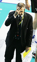 delusione Serniotti, allenatore della MRoma<br /> MRoma Volley vs Itas Diatec Trentino<br /> Play Off Semifinali gara 2 del Campionato Pallavolo Serie A<br /> Roma, 23 Aprile 2008<br /> Photo Antonietta Baldassarre Insidefoto
