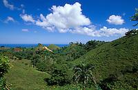 Dominikanische Republik, Hügel bei Las Terrenas auf der Samana-Halbinsel