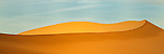Abstract panoramic image of sand dune at Death Valley's Mesquite Dunes