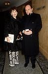 """CARLO VERDONE CON LA MOGLIE GIANNA SCARPELLI <br /> PREMIERE """"BENVENUTO CELLINI"""" DIRETTO DA GIGI PROIETTI AL TEATRODELL'OPERA DI ROMA 1995"""