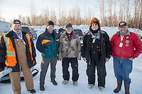 Honorary Musher, Stan Hecker At the start of the 2016 Junior Iditarod Sled Dog Race on Willow Lake  in Willow, AK February 27, 2016