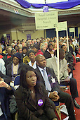 Royal London Hospital UNISON Branch members at the London Citizens Mayoral Accountability Assembly in Central Hall, Westminster.