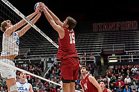 Stanford, CA February 8, 2020. The Stanford Cardinal Men's volleyball team vs UCLA Bruins at Maples Pavilion.  Stanford Cardinal defeats UCLA Bruins 3-0