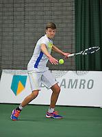 Rotterdam, Netherlands, Januari 24, 2016,  ABNAMROWTT Supermatch, Wietse Post (NED)<br /> Photo: Tennisimages/Henk Koster