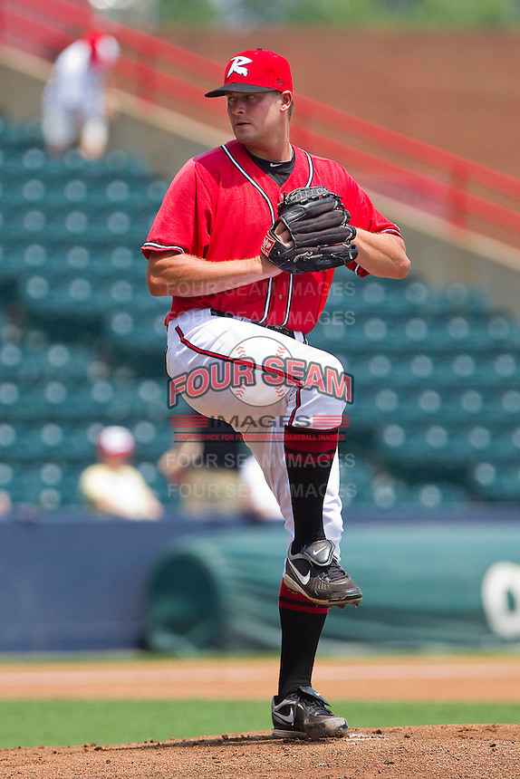 Starting pitcher Chuck Lofgren #29 of the Richmond Flying Squirrels in action against the Harrisburg Senators at The Diamond on July 22, 2011 in Richmond, Virginia.  The Squirrels defeated the Senators 5-1.   (Brian Westerholt / Four Seam Images)