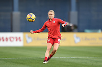San Diego, CA - Sunday January 21, 2018: Emily Sonnett prior to an international friendly between the women's national teams of the United States (USA) and Denmark (DEN) at SDCCU Stadium.