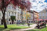 Croatia, Istria, Porec: at square Matije Gupca in old town   Kroatien, Istrien, Porec: Am Platz Matije Gupca mitten in der Altstadt