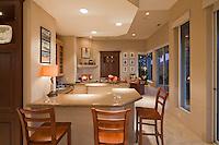 Stock photo of residential wet bar