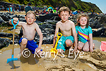 Enjoying Ballybunion beach on Sunday, l to r:  Little Jamie Collins, Sean and Sadhbh Corrigan.