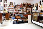 Shop und Cafe Retrolykke, 08/2014<br /> <br /> <br /> Engl.: Europe, Scandinavia, Norway, Oslo, Gruenerløkka, shop and cafe Retrolykke, gastronomy, interior view, August 2014