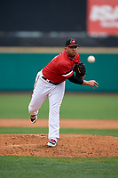 Rochester Red Wings pitcher Fernando Romero (31) during an International League game against the Charlotte Knights on June 16, 2019 at Frontier Field in Rochester, New York.  Rochester defeated Charlotte 11-5 in the first game of a doubleheader that was a continuation of a game postponed the day prior due to inclement weather.  (Mike Janes/Four Seam Images)