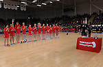 New Zealand's Katrina Grant (Capt) <br /> <br /> Swansea University International Netball Test Series: Wales v New Zealand<br /> Ice Arena Wales<br /> 08.02.17<br /> ©Ian Cook - Sportingwales