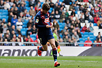 Marc Cardona celebrates goal SD Eibar's XXX during La Liga match between Real Madrid and SD Eibar at Santiago Bernabeu Stadium in Madrid, Spain.April 06, 2019. (ALTERPHOTOS/A. Perez Meca)
