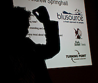 Andrew Springhall of Blusource speaks at the Growth Investment Network meeting