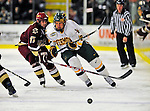 9 January 2009: University of Vermont Catamounts' forward Colin Vock, a Junior from Detroit, MI, in action during the first game of a weekend series against the Boston College Eagles at Gutterson Fieldhouse in Burlington, Vermont. The Catamounts scored with one second remaining in regulation time to earn a 3-3 tie with the visiting Eagles. Mandatory Photo Credit: Ed Wolfstein Photo