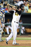 Jacksonville Suns pinch hitter Danny Black (38) at bat during game three of the Southern League Championship Series against the Chattanooga Lookouts on September 12, 2014 at Bragan Field in Jacksonville, Florida.  Jacksonville defeated Chattanooga 6-1 to sweep three games to none.  (Mike Janes/Four Seam Images)