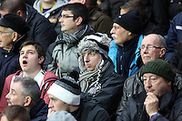 Wednesday, 01 January 2014<br /> Pictured: Swansea supporters.<br /> Re: Barclay's Premier League, Swansea City FC v Manchester City at the Liberty Stadium, south Wales.