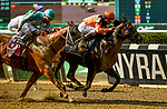 ELMONT, NY - JUNE 08: Imperial Hint, #3, ridden by Javier Castellano, wins the True North Stakes during Friday racing action of the Belmont Stakes Festival at Belmont Park on June 8, 2018 in Elmont, New York. (Photo by Carson Dennis/Eclipse Sportswire/Getty Images)