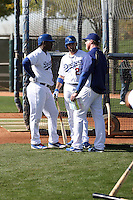 Yasiel Puig (L), Adrian Gonzalez (C), Mark McGwire (R) - Los Angeles Dodgers 2014 spring training (Bill Mitchell)
