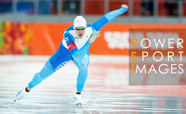 Pekka Koskela of Finland compete during the Speed Skating as part of the 2014 Sochi Olympic Winter Games at Adler Arena on February 10, 2014 in Sochi, Russia. Photo by Victor Fraile / Power Sport Images