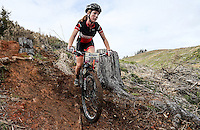 Auckland Seconday School Mountain Biking Championships, Maraetai Forest, Auckland, New Zealand. Sunday 19 June 2016. Photo: Simon Watts/www.bwmedia.co.nz