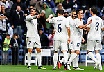 Cristiano Ronaldo of Real Madrid celebrates with teammates during the La Liga match between Real Madrid and Real Sporting de Gijon at the Santiago Bernabeu Stadium on 26 November 2016 in Madrid, Spain. Photo by Diego Gonzalez Souto / Power Sport Images