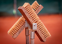 Almere, The Netherlands, August 24, 2018,  National Tennis Center, Line brush<br /> Photo: Tennisimages/Henk Koster