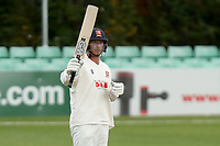 Tom Westley of Essex celebrates scoring fifty runs during Worcestershire CCC vs Essex CCC, LV Insurance County Championship Group 1 Cricket at New Road on 29th April 2021