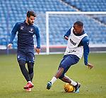 15.02.2019: Rangers training: Daniel Candeias and Glen Kamara