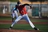 Daniel Watson (16) of Columbia High School in Nassau, New York during the Baseball Factory All-America Pre-Season Tournament, powered by Under Armour, on January 13, 2018 at Sloan Park Complex in Mesa, Arizona.  (Mike Janes/Four Seam Images)
