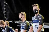 New sponsor, new name, new shirt for Team Qhubeka NextHash at the pre Tour teams presentation of the 108th Tour de France 2021 in Brest at Le Grand Départ <br /> - Simon Clarke (AUS:Qhubeka NextHash)<br /> <br /> ©kramon