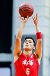 Leung Shiu Wah #6 of SCAA Men's Basketball Team concentrates prior to a free throw during the Hong Kong Basketball League game between SCAA vs Winling at Southorn Stadium on June 19, 2018 in Hong Kong. Photo by Yu Chun Christopher Wong / Power Sport Images