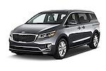 2015 KIA Sedona EX 5 Door Minivan Angular Front stock photos of front three quarter view